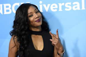 "Mandatory Credit: Photo by Invision/AP/REX/Shutterstock (9241428ds) Tiffany Haddish, a cast member in the NBC series ""The Carmichael Show,"" poses at the 2017 NBCUniversal Summer Press Day at the Beverly Hilton, in Beverly Hills, Calif 2017 NBCUniversal Summer Press Day, Beverly Hills, USA - 20 Mar 2017"